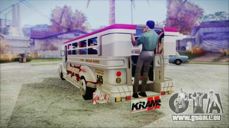Hataw Motor Works Jeepney für GTA San Andreas linke Ansicht