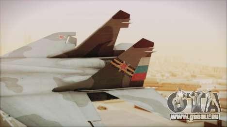 Mikoyan-Gurevich MIG-29A Russian Air Force pour GTA San Andreas sur la vue arrière gauche