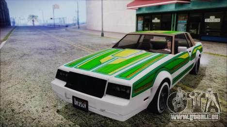 GTA 5 Willard Faction Custom without Extra IVF pour GTA San Andreas vue intérieure