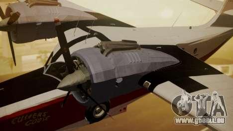 Grumman G-21 Goose NC327 Cutter Goose für GTA San Andreas rechten Ansicht