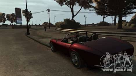 GTA V Stinger Classic für GTA 4 hinten links Ansicht