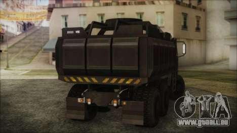 Archer Gun Truck pour GTA San Andreas laissé vue