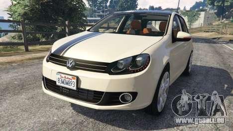 Volkswagen Golf Mk6 v2.0 [Stripes] pour GTA 5