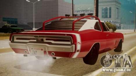 Dodge Charger O Death RT 1969 pour GTA San Andreas laissé vue