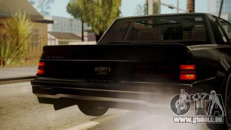 GTA 5 Faction Stock DLC LowRider pour GTA San Andreas vue de dessous