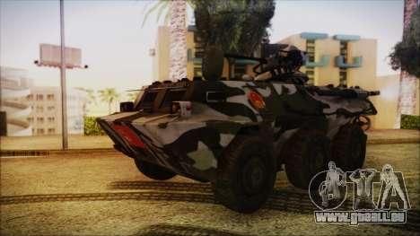 Norinco Type 92 from Mercenaries 2 pour GTA San Andreas