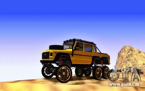 Bienfaiteur Dubsta 6x6 Custom Tuning pour GTA San Andreas