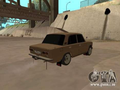 Vaz 2101 V1 pour GTA San Andreas sur la vue arrière gauche