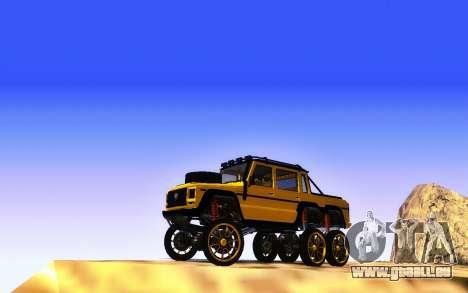 Bienfaiteur Dubsta 6x6 Custom Tuning pour GTA San Andreas vue arrière