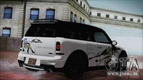 Mini Cooper Clubman 2011 Itasha pour GTA San Andreas laissé vue