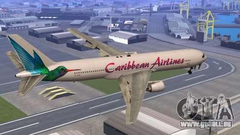 Boeing 767-300 Caribbean Airlines pour GTA San Andreas laissé vue