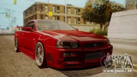 Nissan Skyline R34 FnF 4 v1.1 pour GTA San Andreas