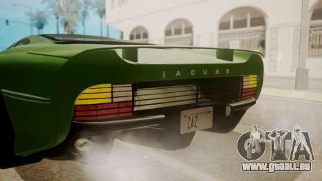 Jaguar XJ220 1992 FIV АПП pour GTA San Andreas vue de dessus