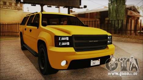 GTA 5 Declasse Granger IVF pour GTA San Andreas vue arrière