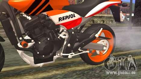 Honda Hornet Repsol 2010 für GTA San Andreas rechten Ansicht
