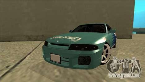 Nissan Skyline R33 Drift Falken pour GTA San Andreas sur la vue arrière gauche