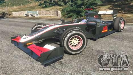 GTA 5 Hispania F110 (HRT F110) v1.1 droite vue latérale