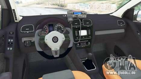 Volkswagen Golf Mk6 Police pour GTA 5