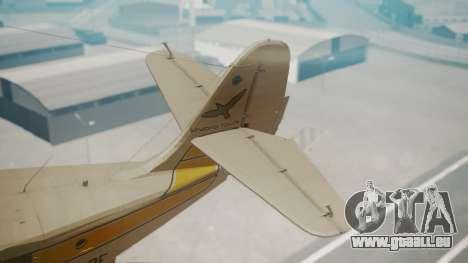 Grumman G-21 Goose WhiteYellow für GTA San Andreas zurück linke Ansicht