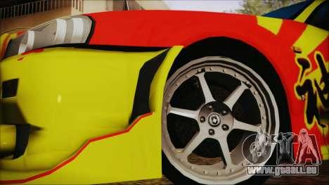 Nissan Skyline Street Racing Syndicate pour GTA San Andreas sur la vue arrière gauche