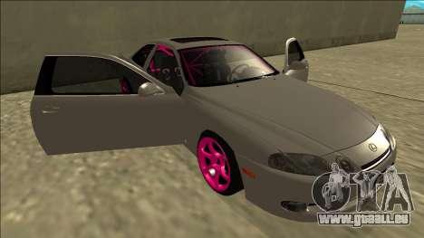 Lexus SC 300 Drift pour GTA San Andreas vue de dessous