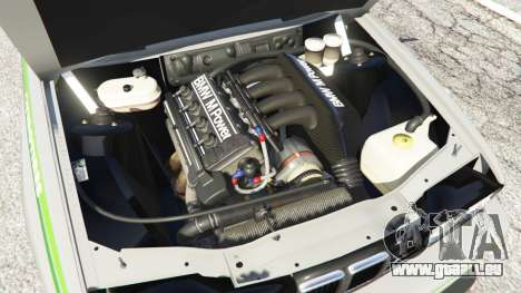 GTA 5 BMW M3 (E30) 1991 [Honoris] v1.2 arrière droit vue de côté