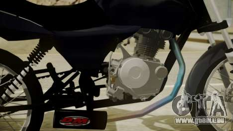 Honda Titan CG150 Stunt für GTA San Andreas zurück linke Ansicht