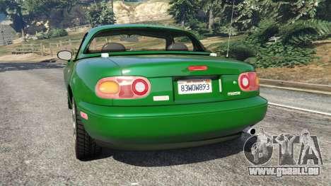 GTA 5 Mazda Miata MX-5 hinten links Seitenansicht
