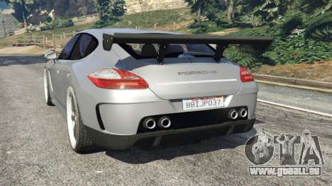 GTA 5 Porsche Panamera Turbo 2010 hinten links Seitenansicht