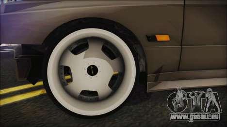 BMW M3 E30 Camber pour GTA San Andreas sur la vue arrière gauche