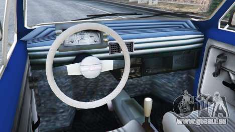 GTA 5 Fiat 126p v1.1 arrière droit vue de côté