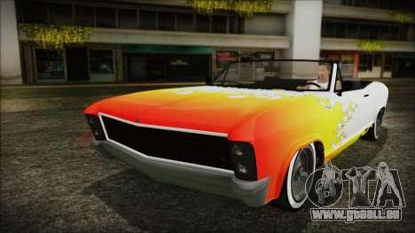 GTA 5 Albany Buccaneer Custom pour GTA San Andreas vue de côté