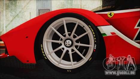 Ferrari FXX K 2016 v1.1 [HQ] pour GTA San Andreas sur la vue arrière gauche