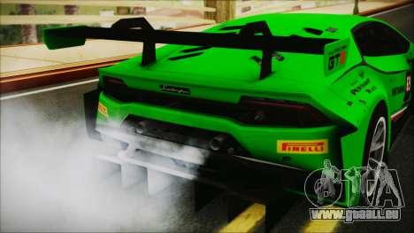 Lamborghini Huracan 610-4 GT3 2015 für GTA San Andreas Rückansicht