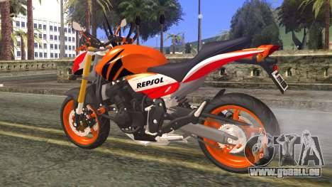 Honda Hornet Repsol 2010 pour GTA San Andreas laissé vue