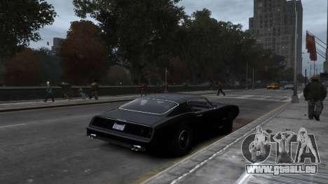 Classic Muscle Phoenix IV pour GTA 4 est une vue de l'intérieur