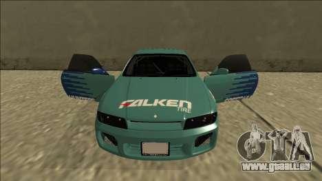 Nissan Skyline R33 Drift Falken für GTA San Andreas obere Ansicht