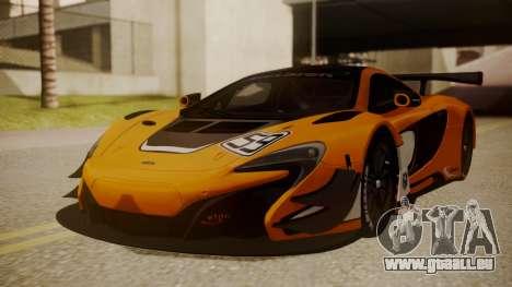 McLaren 650S GT3 2015 für GTA San Andreas