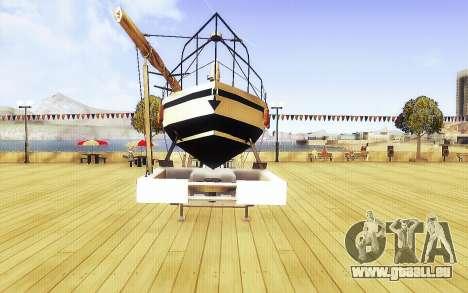 GTA V Big Boot Trailer für GTA San Andreas rechten Ansicht