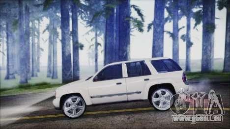 Chevrolet Triblazer pour GTA San Andreas sur la vue arrière gauche