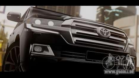 Toyota Land Cruiser 2016 pour GTA San Andreas sur la vue arrière gauche
