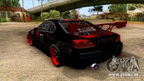 Nissan S15 Drift pour GTA San Andreas sur la vue arrière gauche