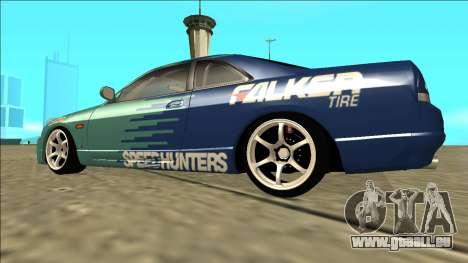Nissan Skyline R33 Drift Falken pour GTA San Andreas laissé vue