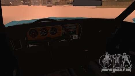 Pontiac Lemans Hardtop Coupe 1971 pour GTA San Andreas vue de droite