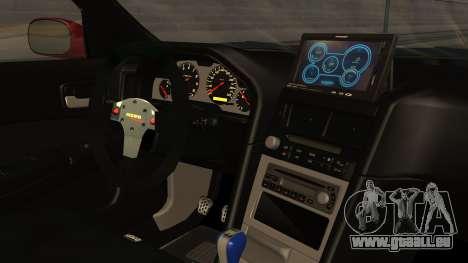 Nissan Skyline R34 FnF 4 v1.1 pour GTA San Andreas vue de droite