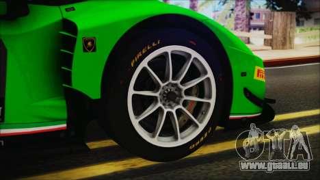 Lamborghini Huracan 610-4 GT3 2015 pour GTA San Andreas sur la vue arrière gauche