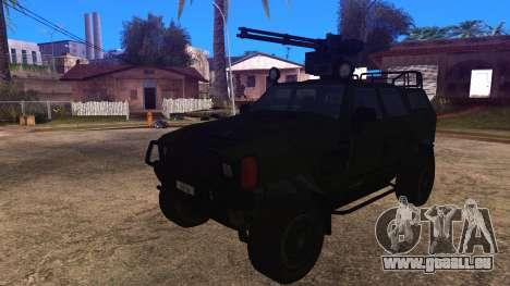 Komatsu LAV 4x4 with Vulcan Gatling Gun pour GTA San Andreas