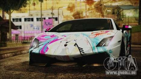 Lamborghini Gallardo LP570-4 2015 Miku Racing 4K für GTA San Andreas