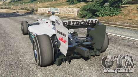 GTA 5 Mercedes-Benz MGP W01 [Michael Schumacher] v1.1 hinten links Seitenansicht