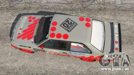 GTA 5 BMW M3 (E30) 1991 [Wild Autonio] v1.2 vue arrière